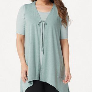 LOGO Lounge By Lori Goldstein Jersey Vest & Top Tw